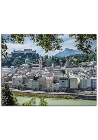 Artland Glasbild »Salzburg Blick auf die Altstadt«, Österreich, (1 St.) kaufen