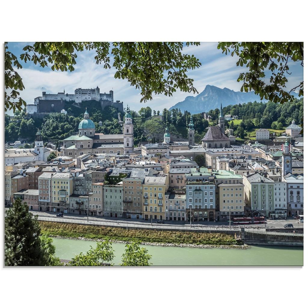 Artland Glasbild »Salzburg Blick auf die Altstadt«, Österreich, (1 St.)