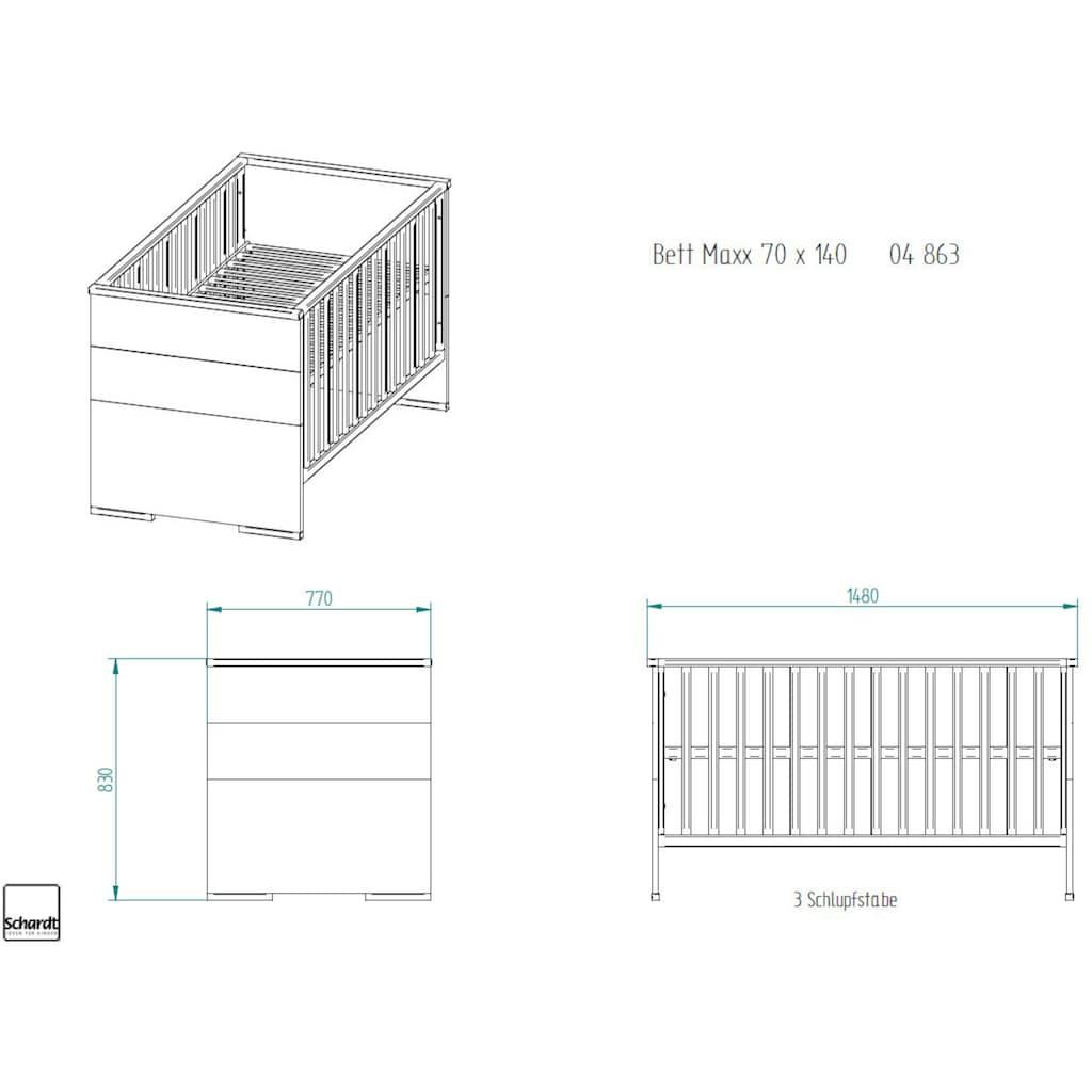 Schardt Babymöbel-Set »Maxx Boathouse«, (Spar-Set, 2 St.), mit Kinderbett und Wickelkommode; Made in Germany