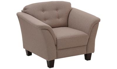 Home affaire Sessel »Lillesand«, mit Federkern, Knopfheftung im Rücken, Füße Buche kaufen