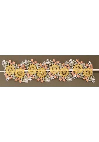 Stickereien Plauen Scheibengardine »Blüten« kaufen