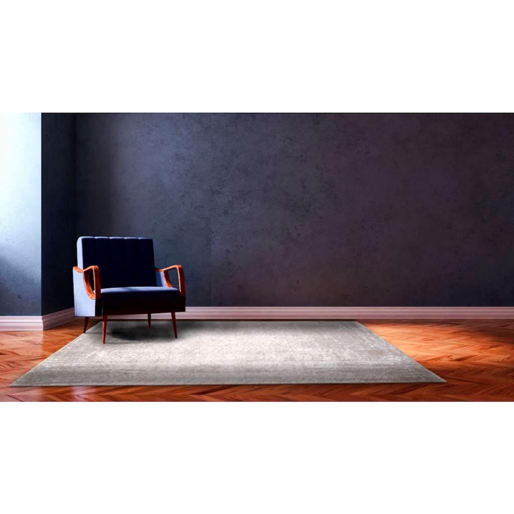 louis de poortere Teppich »JACOB'S LADDER«, rechteckig, 3 mm Höhe, Flachgewebe, modernes Design, 85% Baumwolle, Wohnzimmer