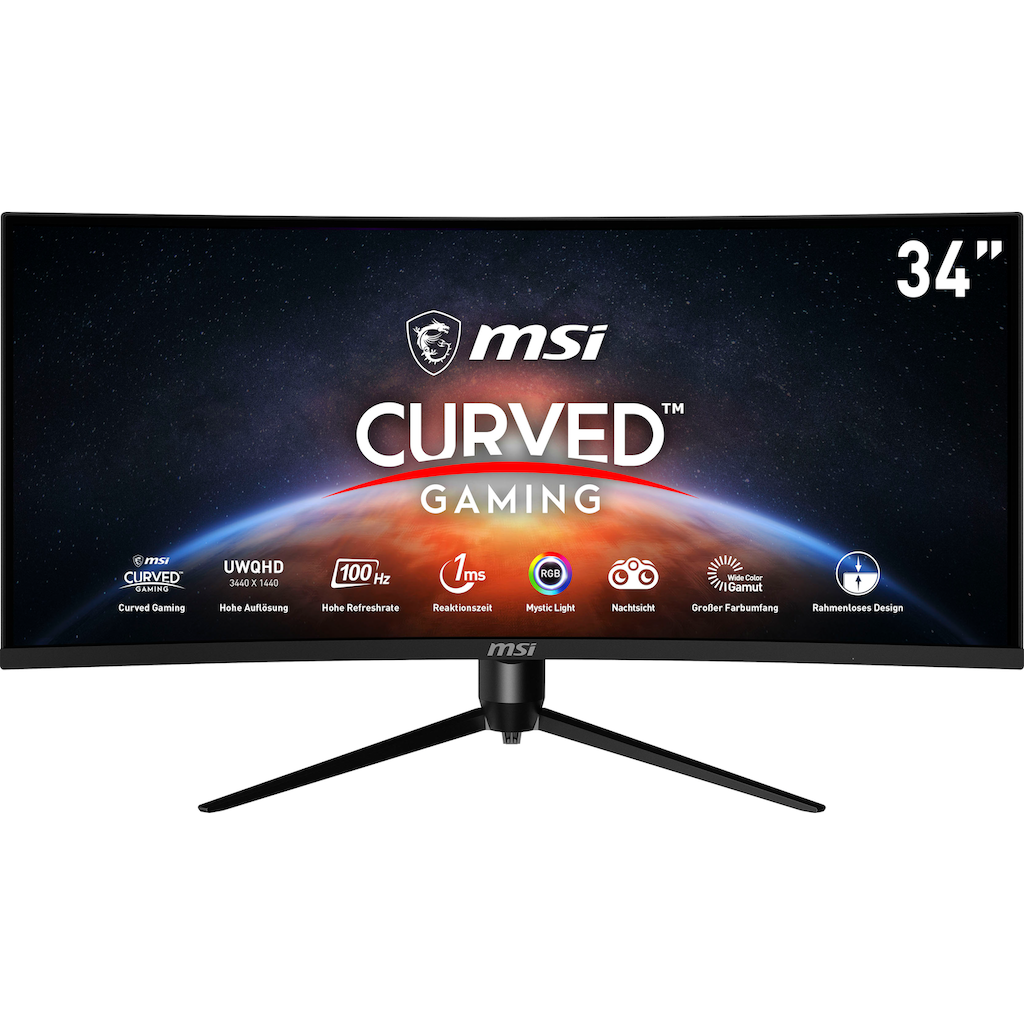 "MSI Curved-Gaming-Monitor »Optix MAG342CQRV«, 86 cm/34 "", 3440 x 1440 px, UWQHD, 1 ms Reaktionszeit, 100 Hz, höhenverstellbar"