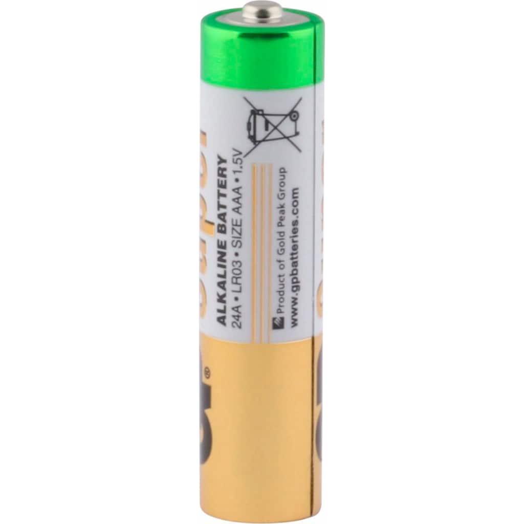 GP Batteries Batterie »Super Alkaline AAA«, LR03, 1,5 V, (Set, 4 St.)