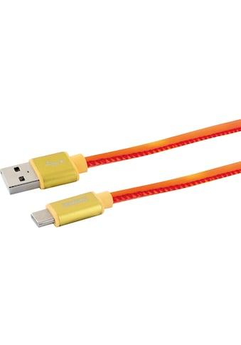 Schwaiger USB C Kabel, 1,5m Ladekabel für Samsung, Huawei, LG, etc. »USB 2.0 A zu USB... kaufen