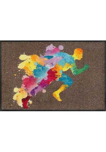 wash+dry by Kleen-Tex Fußmatte »Runiac«, rechteckig, 7 mm Höhe, Schmutzfangmatte, In-... kaufen