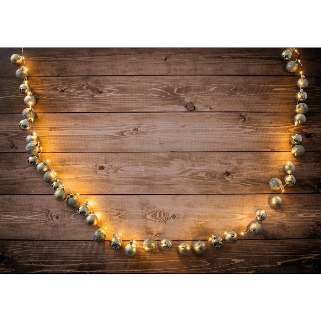 näve LED-Lichterkette »LED-Outdoor-Weihnachtslichterkette l: 150cm gold«, 30 St.-flammig, Timer