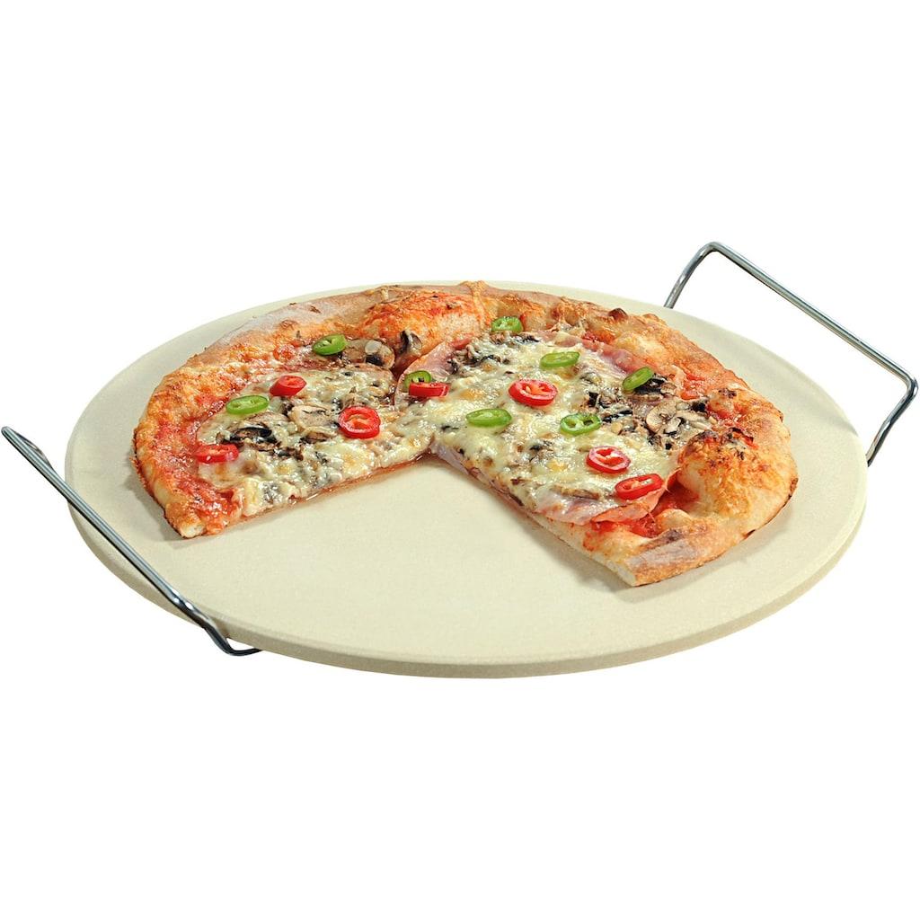 KESPER for kitchen & home Pizzastein, Keramik-Metall-Schamottstein