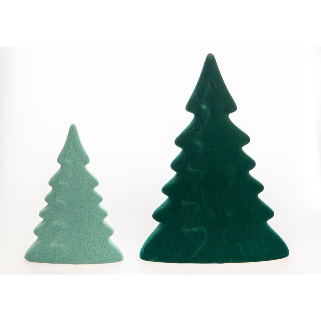 VALENTINO Wohnideen Dekobaum »Moria« (Set, 2 Stück, 1x klein/hellgrün, 1x groß/dunkelgrün)