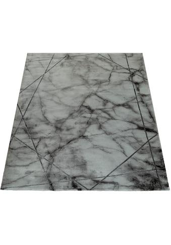 Paco Home Teppich »Kraft 523«, rechteckig, 17 mm Höhe, Kurzflor mit Marmor-Design,... kaufen