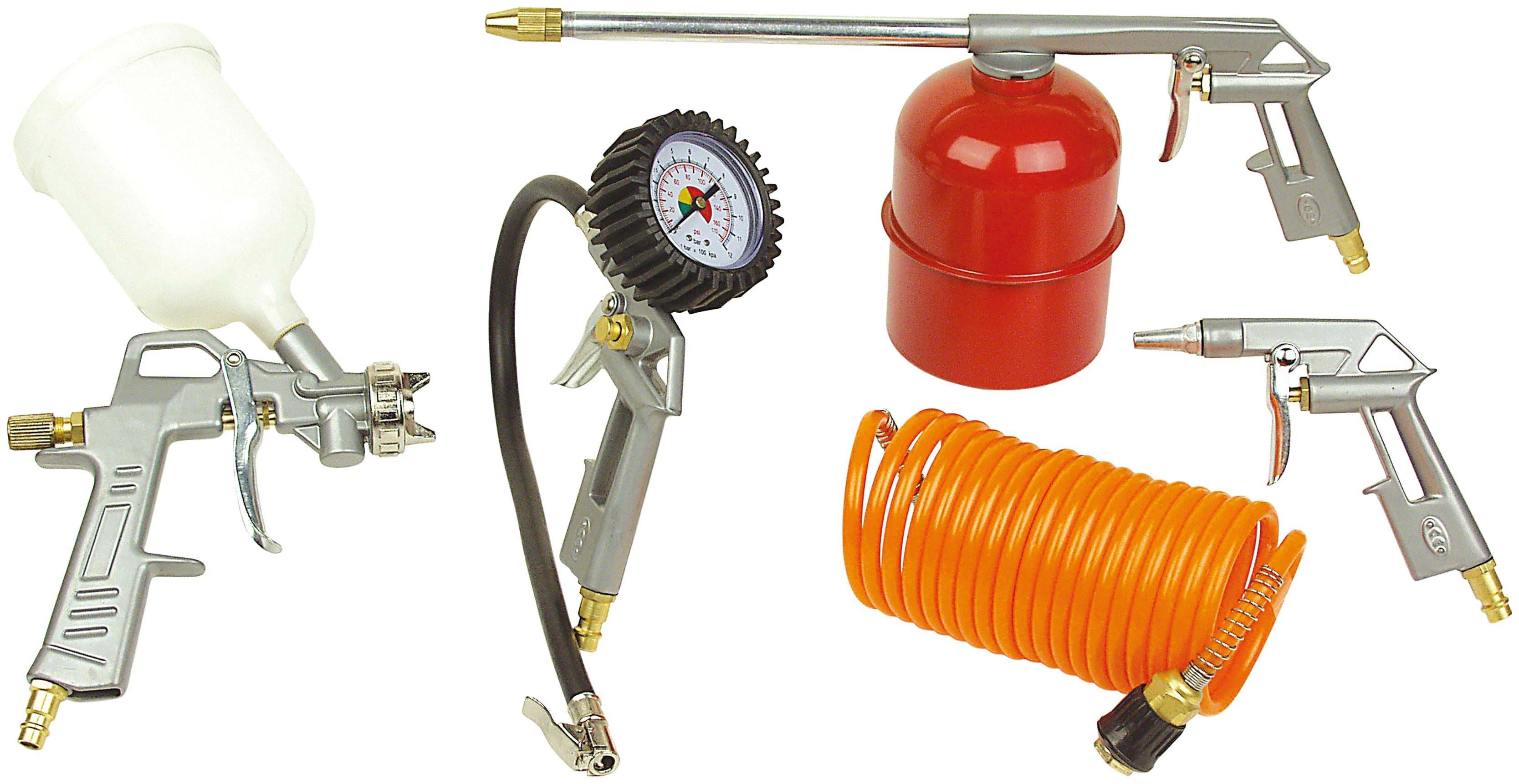 BRUEDER MANNESMANN WERKZEUGE Druckluft-Set, 5-tlg. | Baumarkt > Werkzeug > Werkzeug-Sets | Rot | BRUEDER MANNESMANN WERKZEUGE