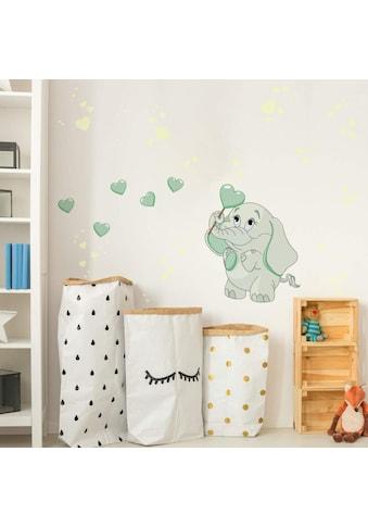 Wall - Art Wandtattoo »Elefantenbaby Leuchtbilder« (1 Stück) kaufen