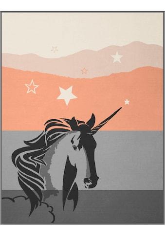 BIEDERLACK Wohndecke »Last Unicorn«, mit Einhorn Motiv kaufen