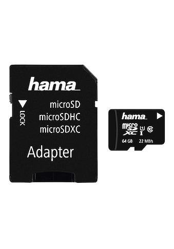 Hama microSDXC 64 GB Class 10 UHS-I 22MB/s +Adapter/Foto kaufen