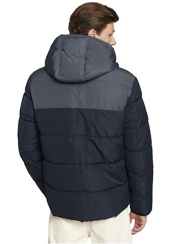 TOM TAILOR Denim Steppjacke, Farbe navy mit markantem Farbkontrast kaufen