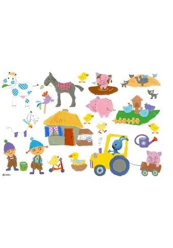 Wall-Art Wandtattoo »Bauernhof Tiere KiKANiNCHEN« kaufen