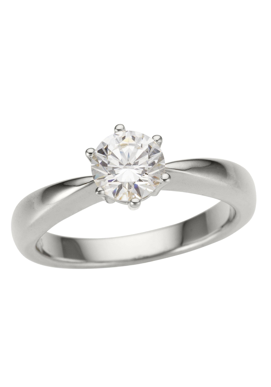 Firetti Fingerring »Verlobungsring, Vorsteckring, Solitär, Weißgold« | Schmuck > Ringe > Fingerringe | Firetti