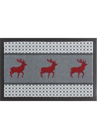 HANSE Home Fußmatte »Hirsch Deer«, rechteckig, 7 mm Höhe, Schmutzfangmatte,... kaufen
