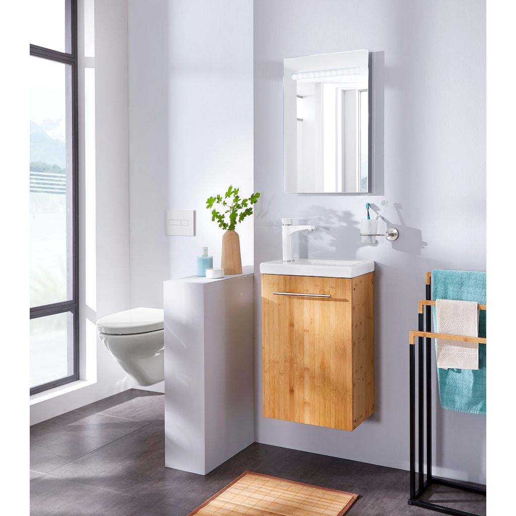 welltime Waschtisch »Bambus New«, Breite 40 cm, für das Gästebad, SlimLine