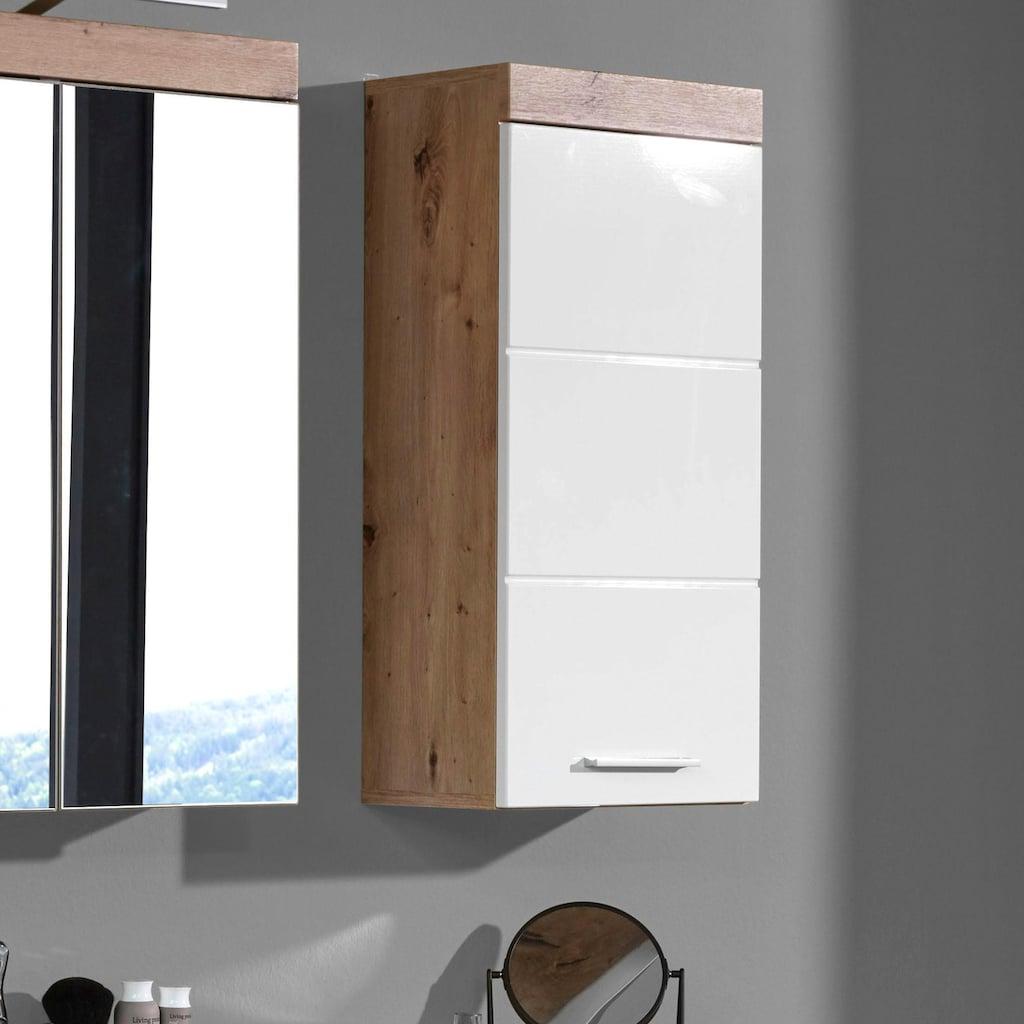 trendteam Hängeschrank »Amanda«, Breite 37 cm, Badezimmerschrank mit wechselbarem Türanschlag, MDF-Front in Hochglanz- oder Holzoptik