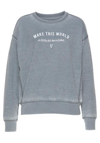 Herrlicher Sweatshirt »CARRIE«, mit Message-Print kaufen