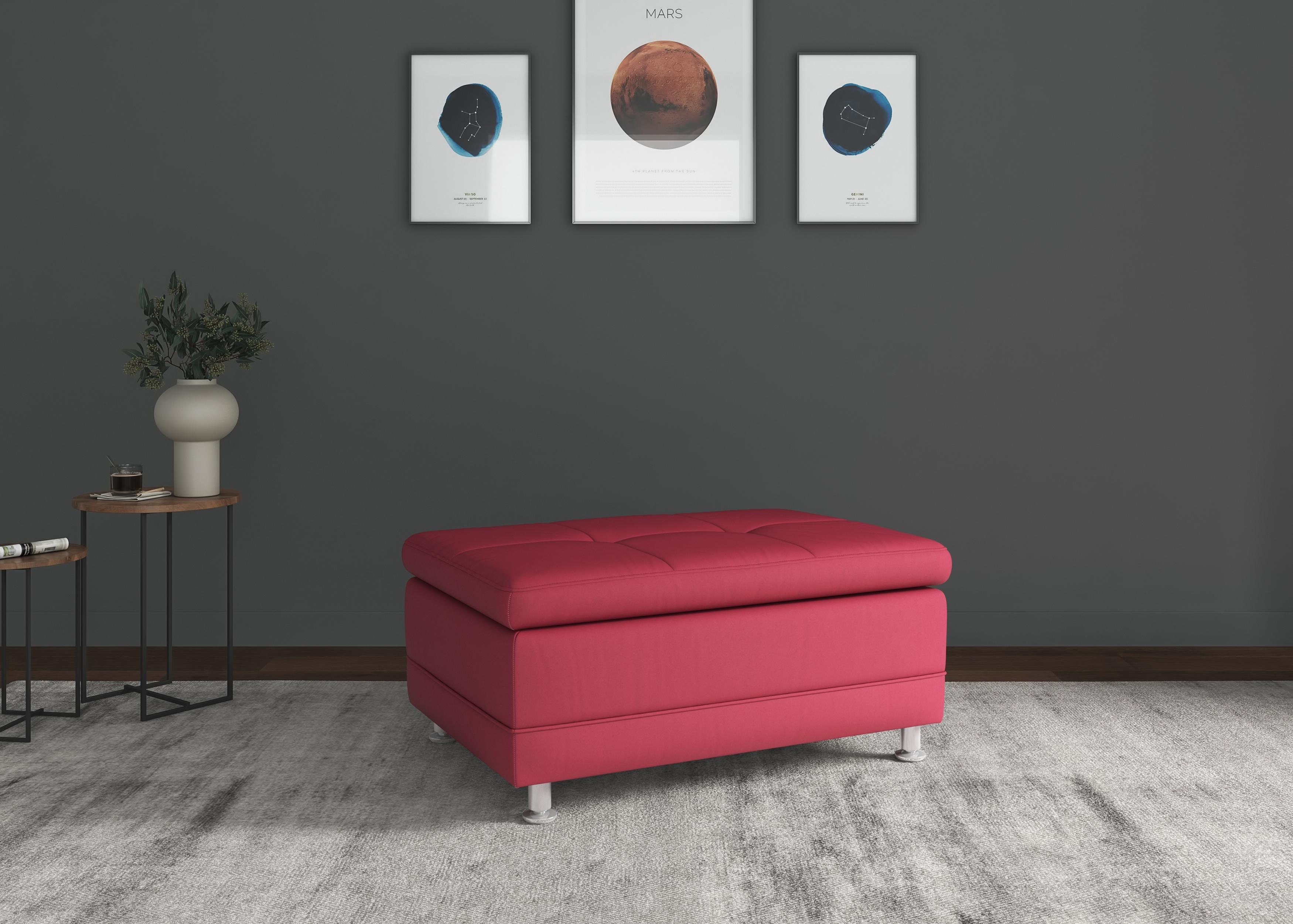 sit&more Hocker »Adelaide«, mit hochwertigen Metallfüßen