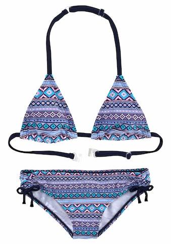 s.Oliver Beachwear Triangel-Bikini, mit Ethno-Druck kaufen