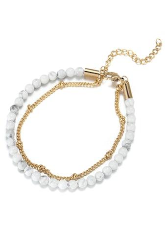 Firetti Fußkette »mehrreihig, elegant, glänzend, massiv«, mit Türkis kaufen