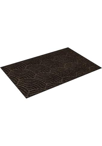 wash+dry by Kleen-Tex Fußmatte »Waves«, rechteckig, 8 mm Höhe, Schmutzfangmatte, In-... kaufen