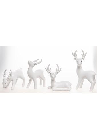 VALENTINO Wohnideen Tierfigur »Hirsch Junus« (Set, 4 Stück) kaufen
