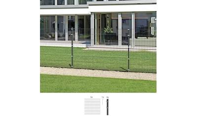 GAH Alberts Doppelstabmattenzaun, 140 cm hoch, 5 Matten für 10 m, 6 Pfosten kaufen