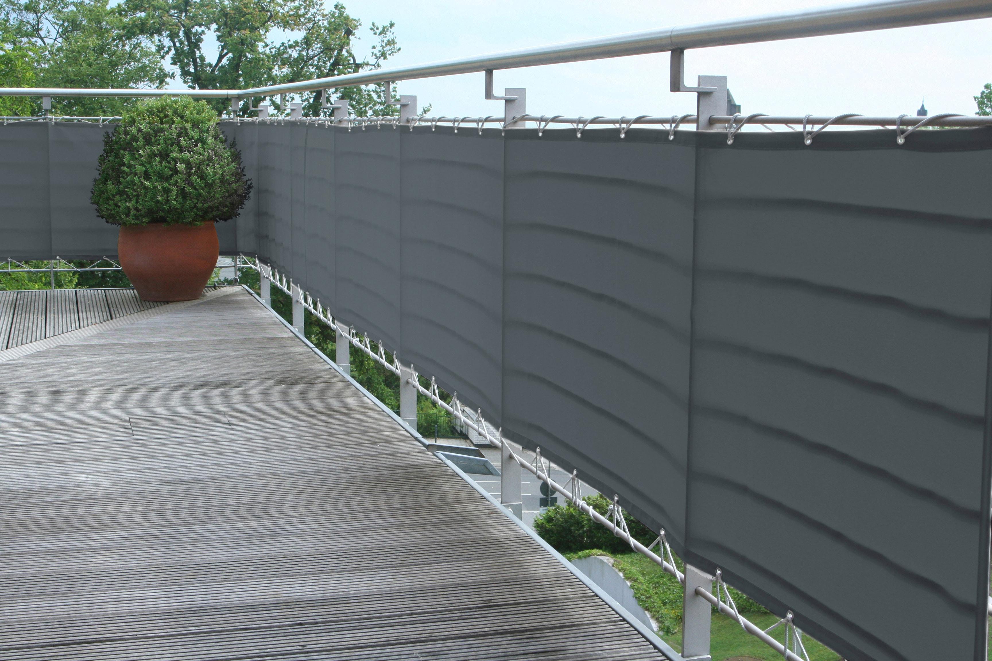 FLORACORD Balkonsichtschutz, BxH: 300x90 cm, anthrazit | Garten > Balkon > Sichtschutz | FLORACORD