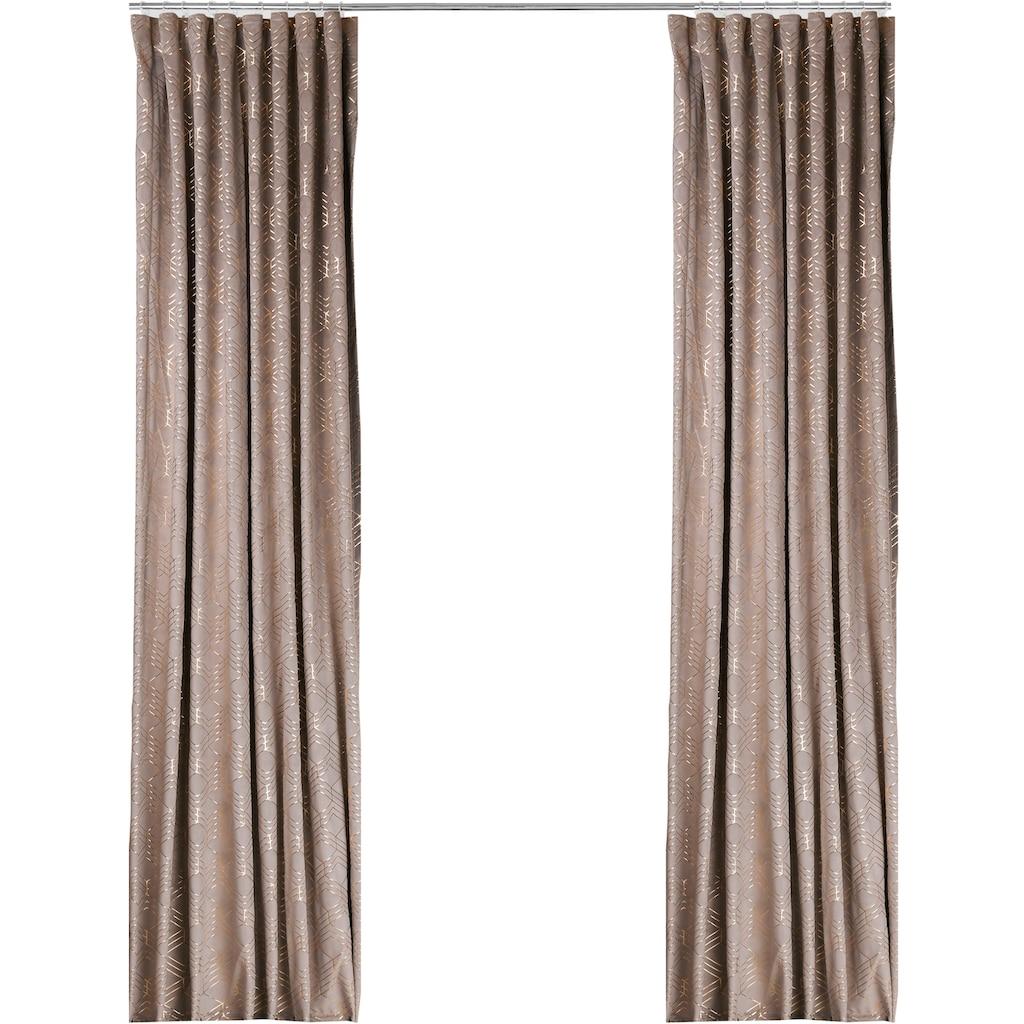 my home Vorhang »Velvet Foil«, Samt