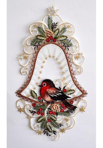 Stickereien Plauen Fensterbild »Vogel in Glocke« kaufen