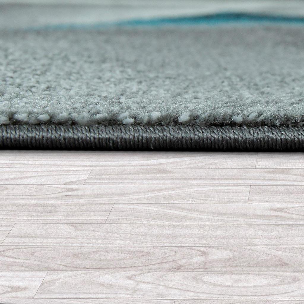 Paco Home Teppich »ECE 911«, rechteckig, 14 mm Höhe, Kurzflor, Geometrisches Design, Wohnzimmer