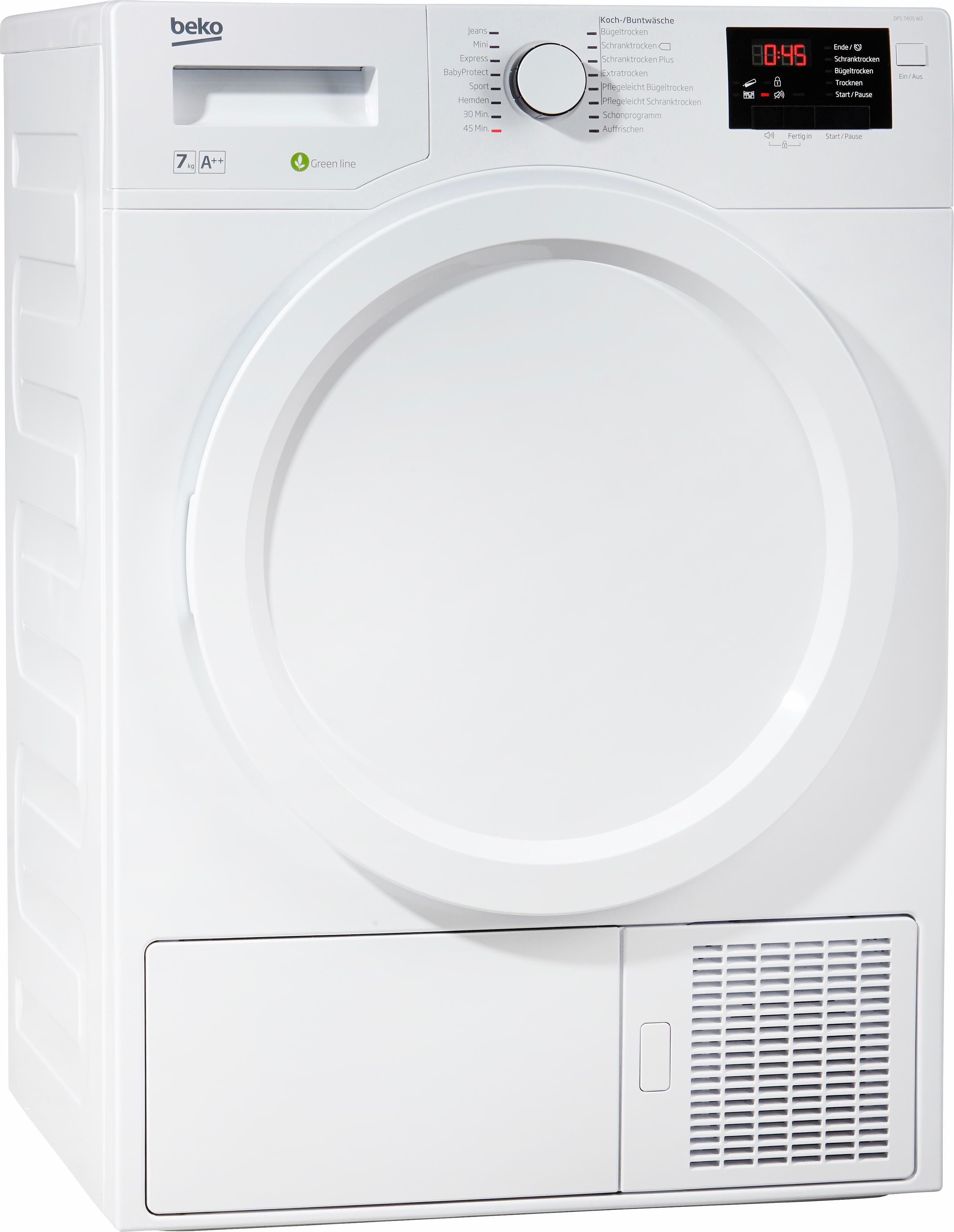 BEKO Wärmepumpentrockner DPS 7405 W3