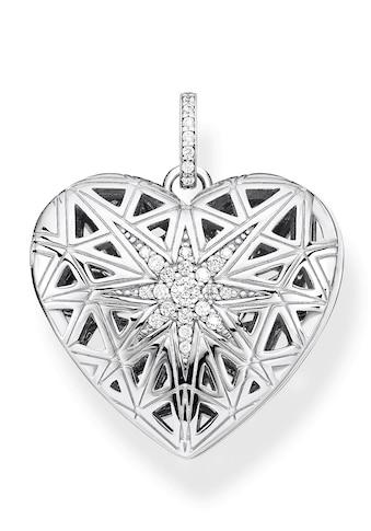 THOMAS SABO Kettenanhänger »Herz Medaillon Stern silber, PE860-416-14«, mit Zirkonia kaufen