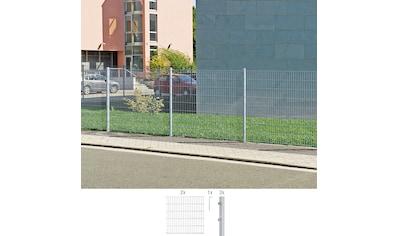 GAH Alberts Doppelstabmattenzaun, 140 cm hoch, 2 Matten für 4 m, 3 Pfosten kaufen
