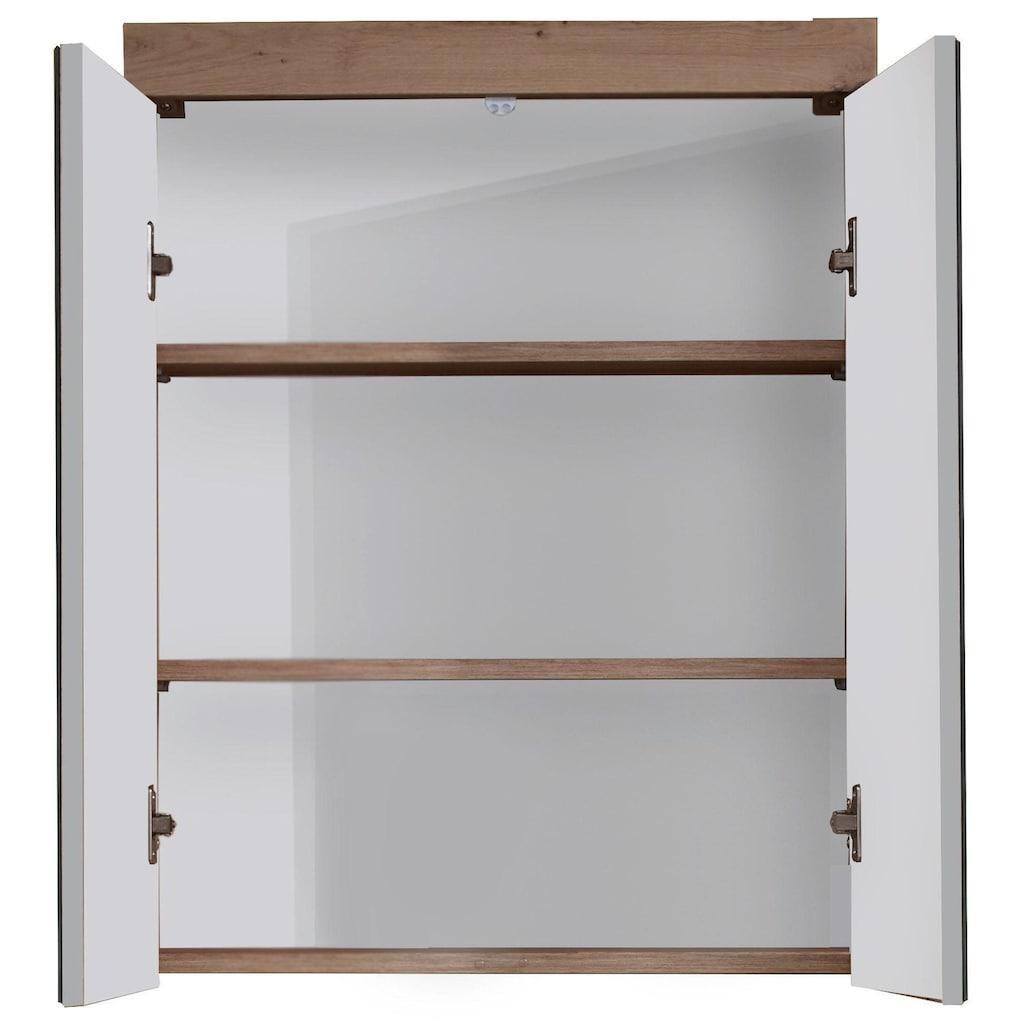 trendteam Spiegelschrank »Amanda«, Breite 60 cm, wahlweise mit LED-Beleuchtung, Badezimmerschrank mit 2 Spiegeltüren