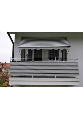 Angerer Freizeitmöbel Balkonsichtschutz, Meterware, hellgrau-anthrazit, H: 90 cm kaufen