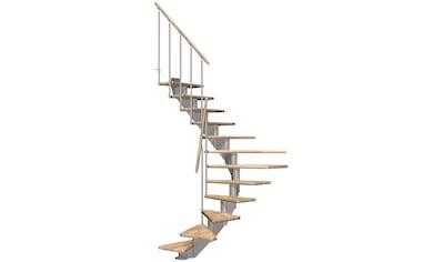 DOLLE Mittelholmtreppe »Hamburg Eiche 85«, bis 279 cm, Metallgeländer, versch. Ausführungen kaufen