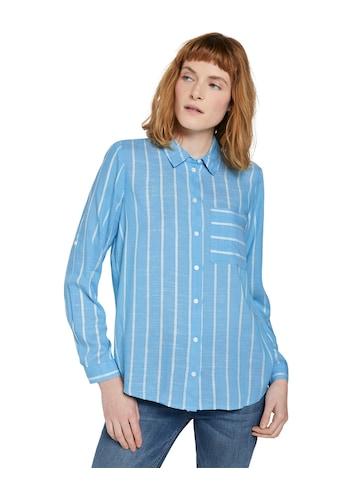 TOM TAILOR Hemdbluse, mit strukturierten Streifen kaufen