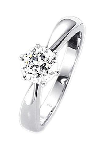 Firetti Fingerring »Verlobungsring, Vorsteckring, Solitär, Weißgold« kaufen