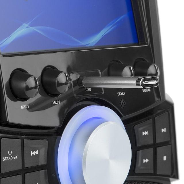 "Auna Karaoke-Anlage DVD 7"" TFT-Display 2 Mikros 25 W RMS »Stage Hero«"