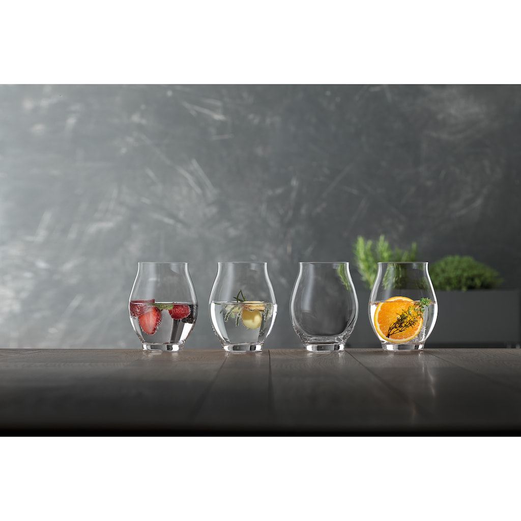 SPIEGELAU Tumbler-Glas »Flavored Water«, (Set, 4 tlg.), 4-teilig, 450 ml