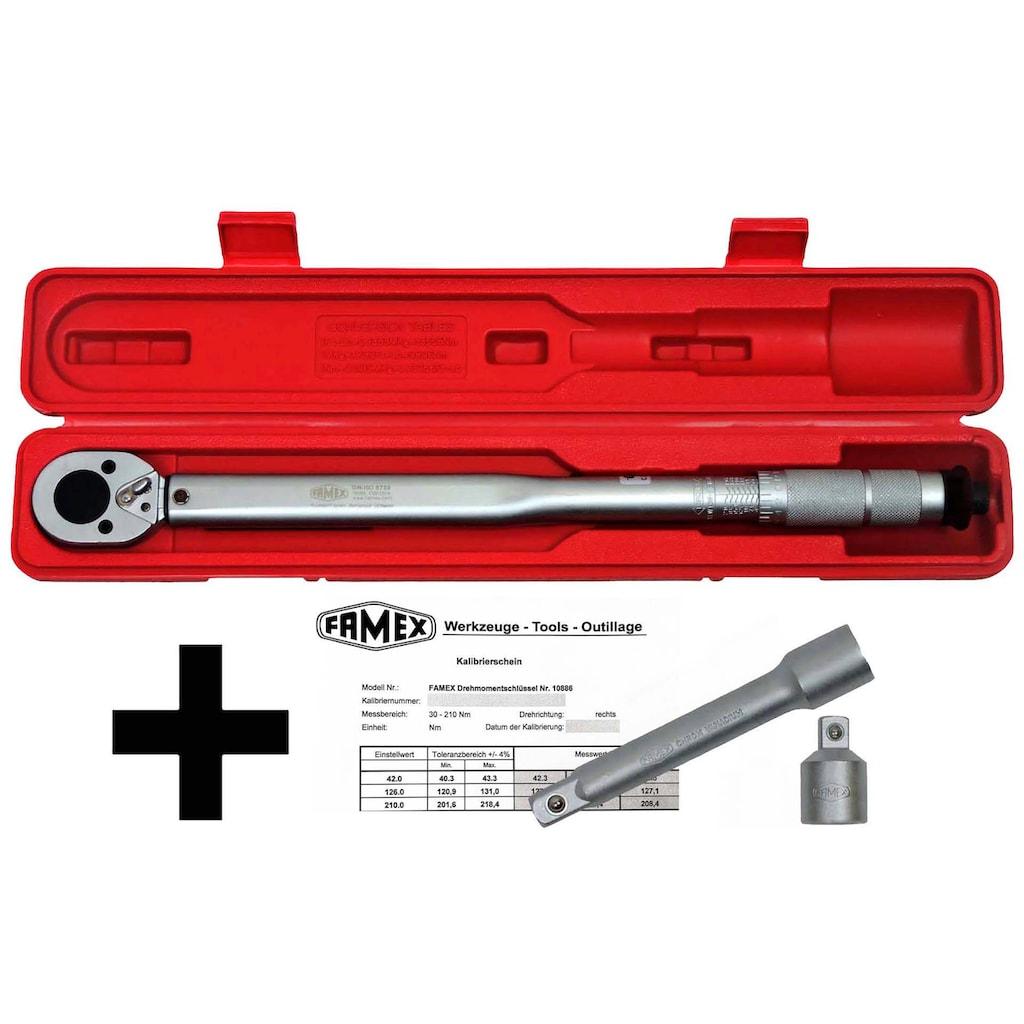 FAMEX Drehmomentschlüssel »Drehmoment-Schlüssel-Set 3-tlg.«, (3-tlg.)30-210 Nm