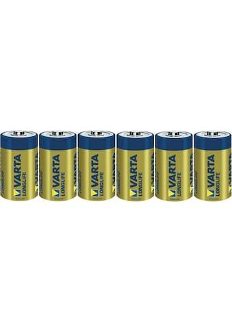 VARTA »LONGLIFE Alkaline Batterie D Mono LR20 6er Batterien Pack Made in Germany« Batterie kaufen
