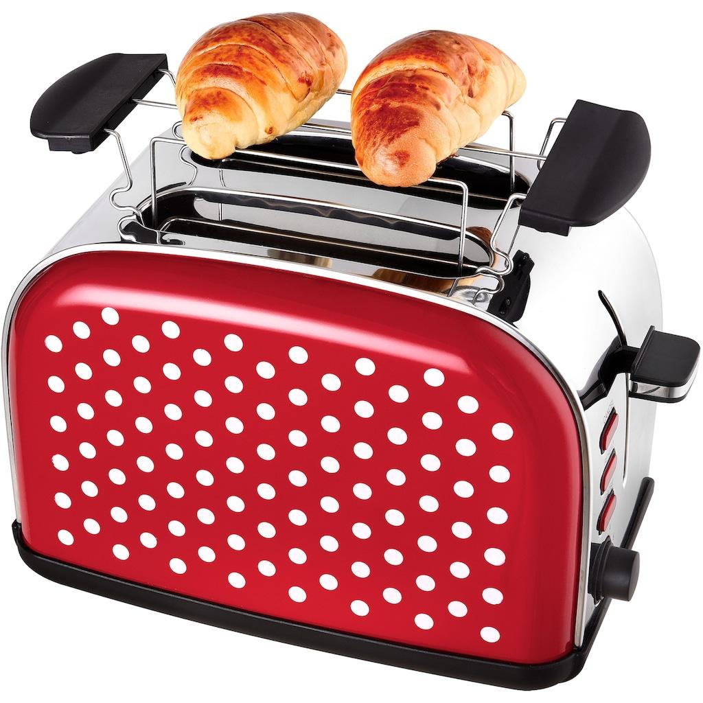 Team Kalorik Toaster »TKG TO 1045 RWD«, für 2 Scheiben, 1050 Watt