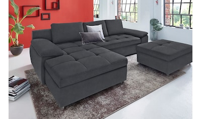 sit&more Ecksofa »Labene«, wahlweise mit Bettfunktion und Bettkasten, inklusive loser Rückenkissen, frei im Raum stellbar kaufen