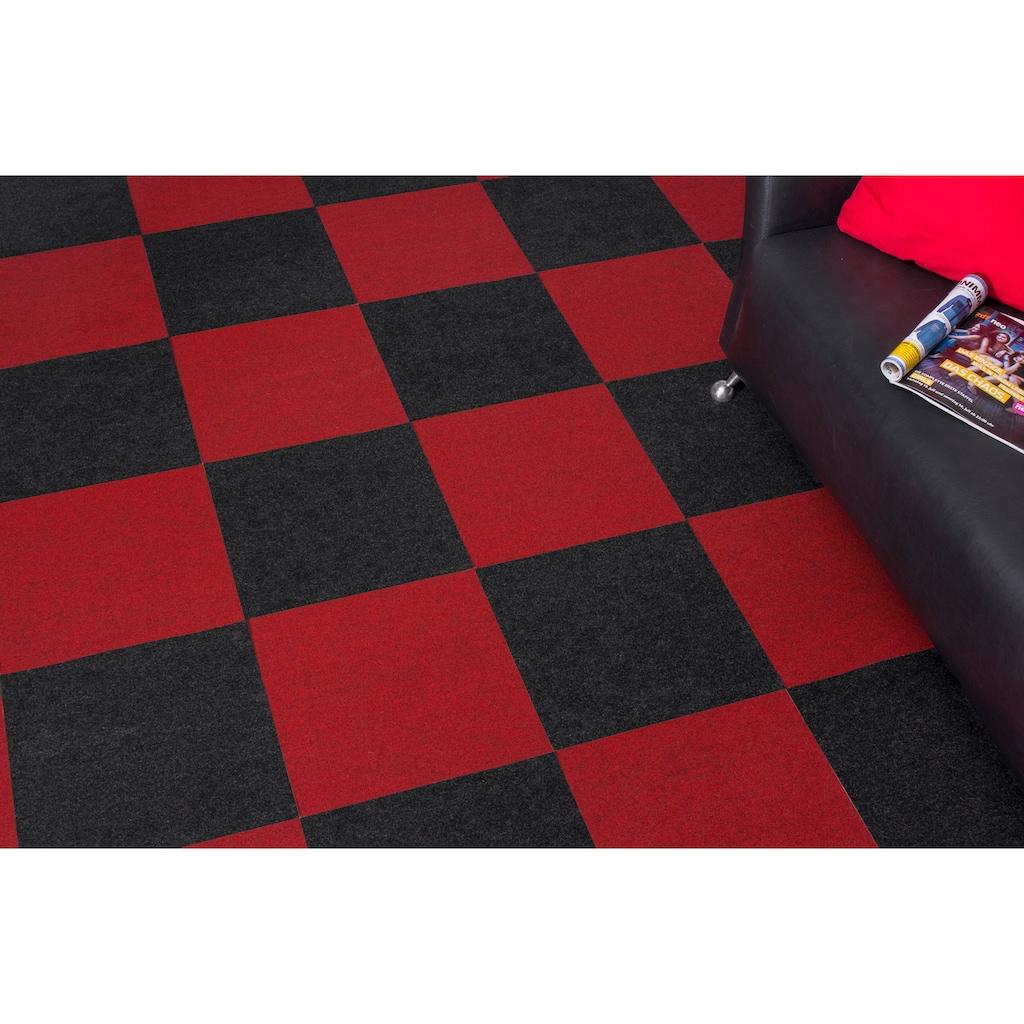 ANDIAMO Teppichfliese »Skandi Nadelfilz«, 100 Stück (16 m²), selbstklebend